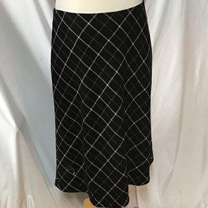 Talbots- thick long plaid skirt Size 14